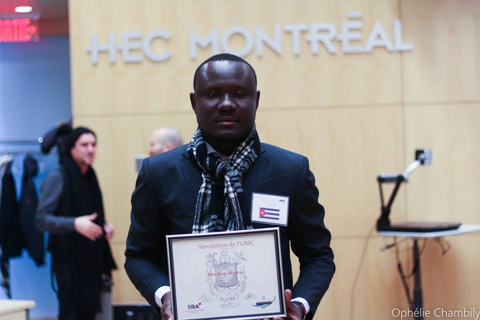 Un jeune haïtien distingué lors de la 13e Simulation de l'OMC  à HEC Montréal